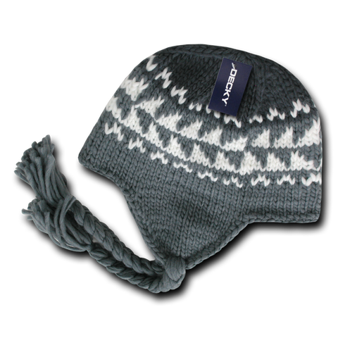 Decky 632 Peruvian Beanie - Gray - HIT A Double