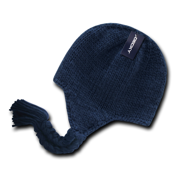 Decky 633 Solid Peruvian Beanie - Navy - HIT A Double