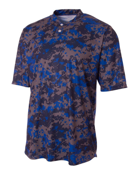 A4 N3263 Camo 2-Button Henley - Royal Camo - HIT A Double