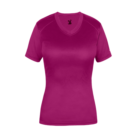 Badger 6462 Ultimate Softlock Fitted Ladies Tee - Hot Pink
