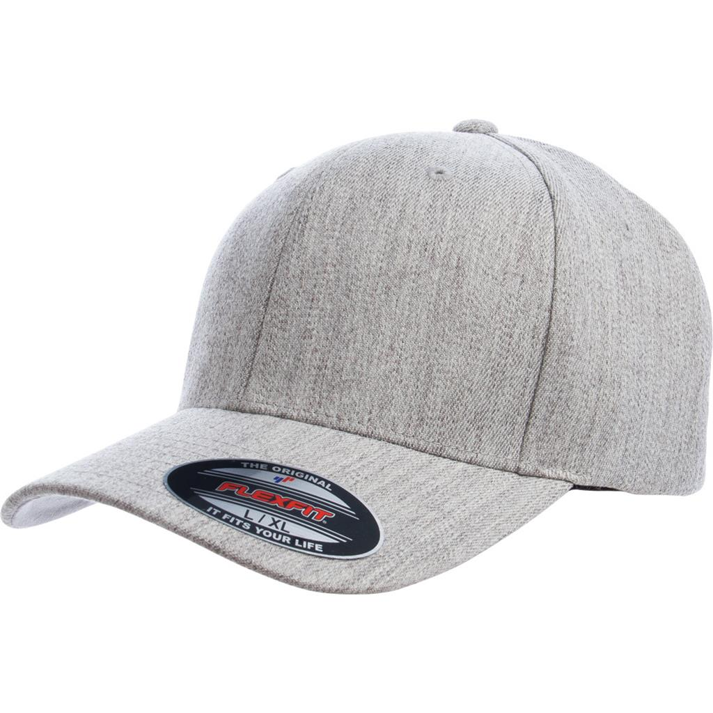 Flexfit 6477 Wool-Blend Cap - Heather Gray