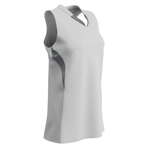 Champro BS30 Decoy Racerback Softball Jersey - White Gray