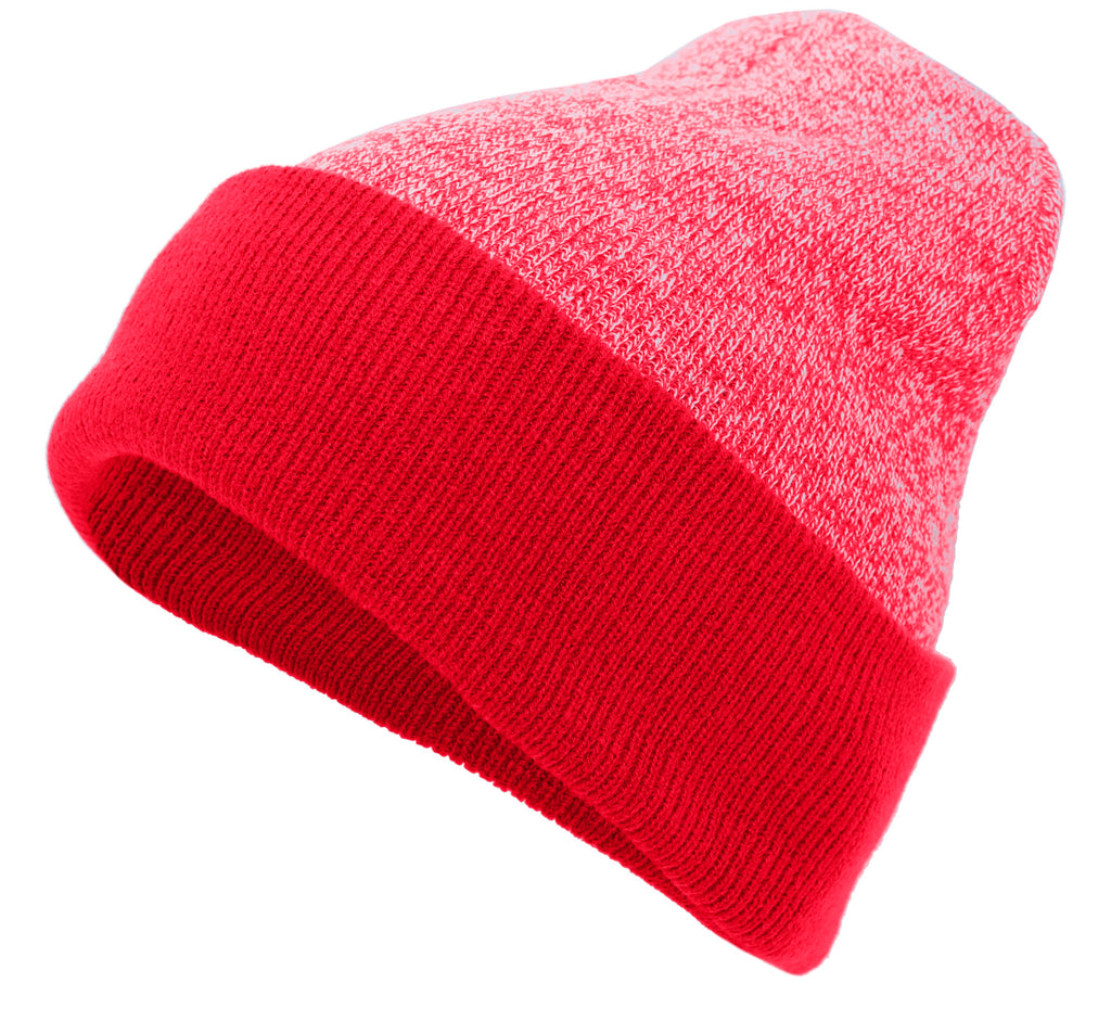 Pacific Headwear 651K Heather Cuff Beanie - Red - HIT A Double