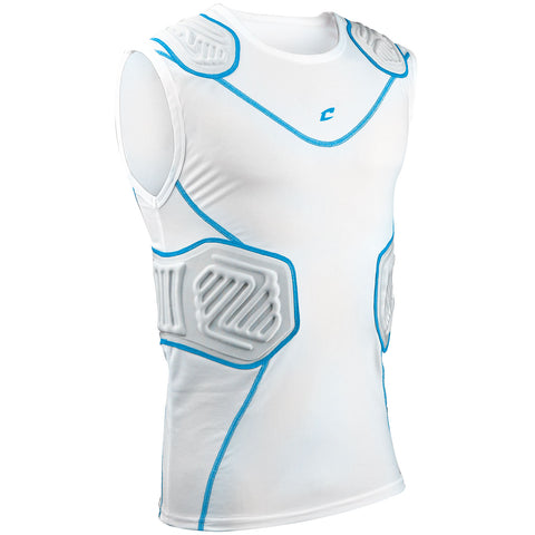 Champro FJU10 Bull Rush Compression Shirt - White Gray