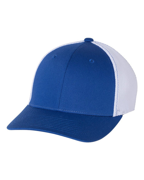 Richardson 110 Fitted Trucker with R-Flex Cap - Royal White