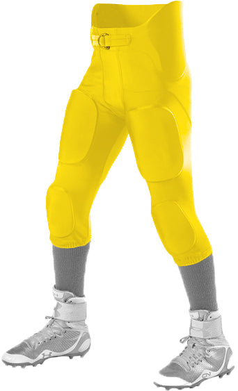 Alleson 689S Adult Intergrated Football Pant - Light Gold