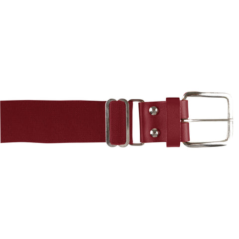 Champro A060 Brute Baseball Belt Leather Tab - Cardinal