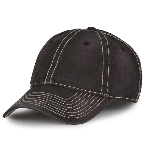 The Game GB439 Enzyme Washed Canvas Cap - Black