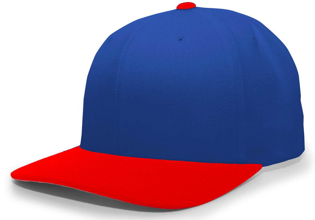 Pacific Headwear 705W Pro-Wool Hook-and-Loop Cap - Royal Red - HIT A Double