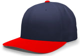 Pacific Headwear 705W Pro-Wool Hook-and-Loop Cap - Navy Red - HIT A Double