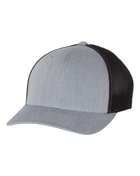 Richardson 110 Fitted Trucker with R-Flex Cap - Heather Gray Black