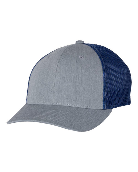 Richardson 110 Fitted Trucker with R-Flex Cap - Heather Gray Royal