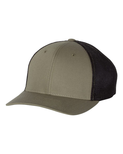 Richardson 110 Fitted Trucker with R-Flex Cap - Loden Black