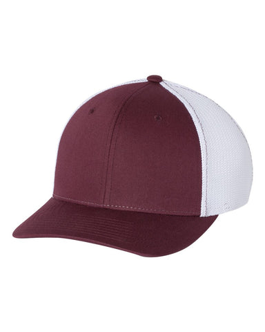 Richardson 110 Fitted Trucker with R-Flex Cap - Maroon White