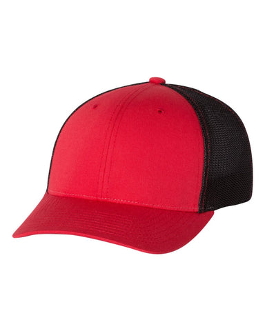 Richardson 110 Fitted Trucker with R-Flex Cap - Red Black
