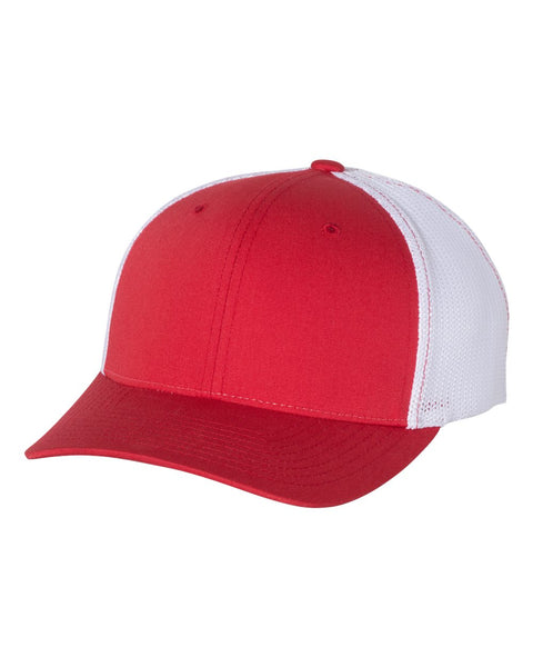 Richardson 110 Fitted Trucker with R-Flex Cap - Red White