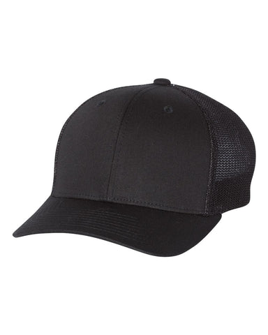 Richardson 110 Fitted Trucker with R-Flex Cap - Black