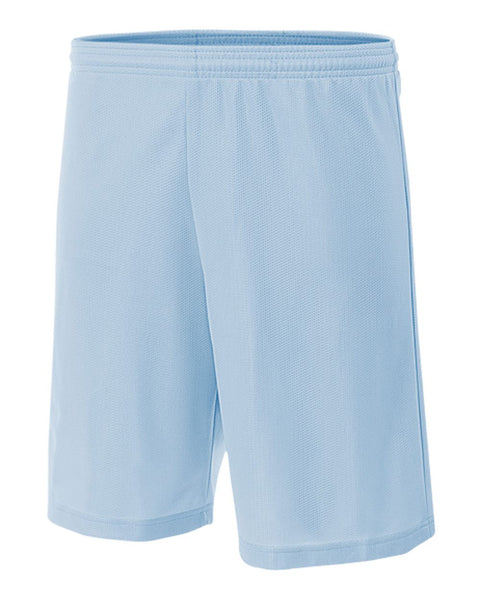 "A4 N5255 9"" Lined Micromesh Shorts - Light Blue"