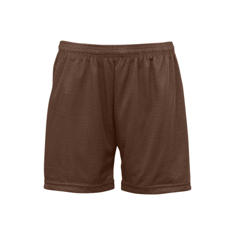 Badger 7216 Ladies Mesh/Tricot Short - Brown - Basketball, Lacrosse/Field Hockey, Fanwear - Hit A Double