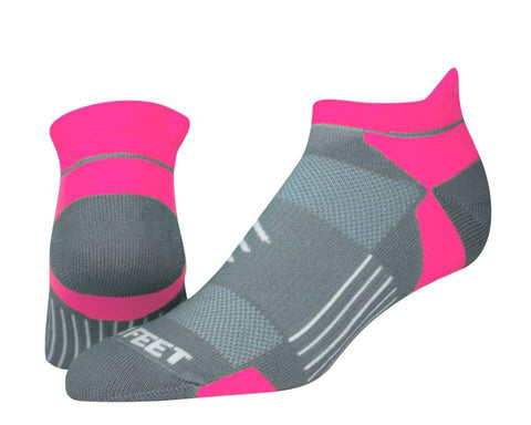 Pro Feet 760 Repreve Low Cut - Gray Hot Pink - Golf, Casual Wear, Think Gray Hot Pink - Hit A Double