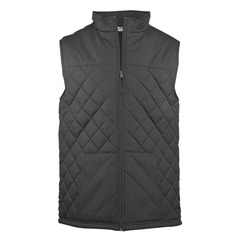 Badger 7666 Quilted Women's Vest - Graphite