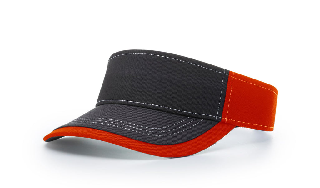 Richardson 775 Twill with Contrast Stitching Visor - Orange