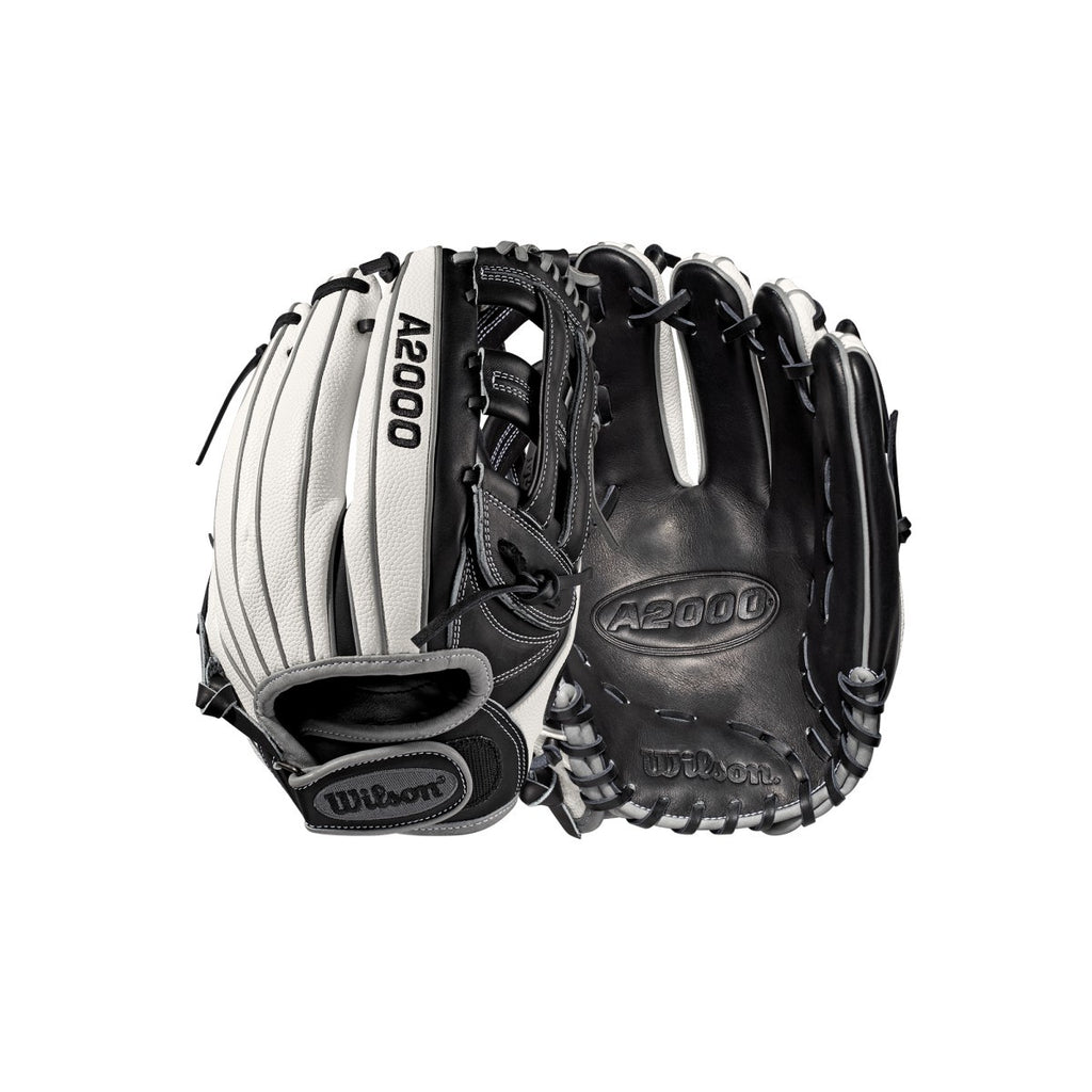 "Wilson 2019 A2000 F12 Superskin 12.00"" FP Infield Glove WTA20RB19FP12SS - White Black - Hit A Double - 3"