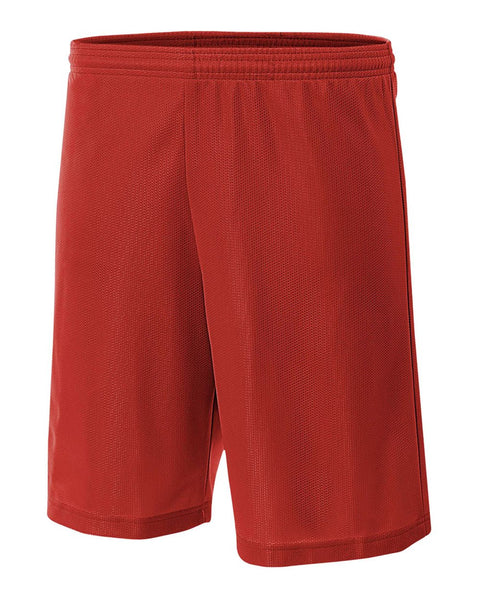 "A4 NB5184 Youth 6"" Lined Micromesh Shorts - Scarlet"