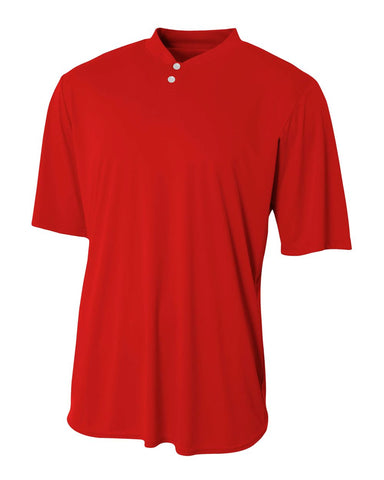 A4 N3143 Tech Performance Henley - Scarlet - HIT A Double