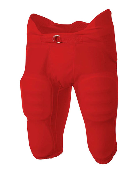 A4 NB6180 Youth Flyless Intergrated Football Pant - Scarlet - HIT A Double