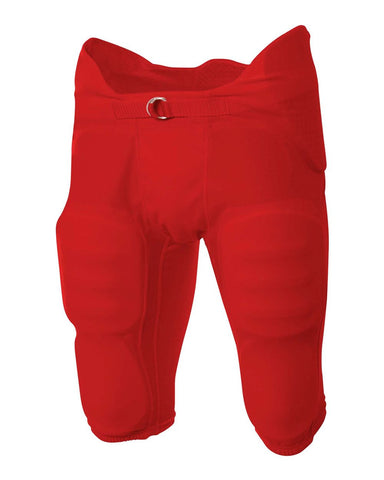 A4 NB6180 Youth Flyless Intergrated Football Pant - Scarlet