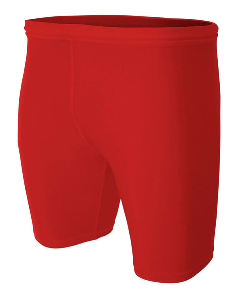 "A4 N5259 8"" Compression Short - Scarlet - HIT A Double"