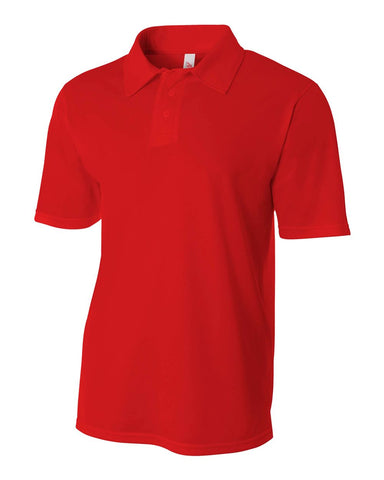 A4 N3262 Textured Performance Polo - Scarlet