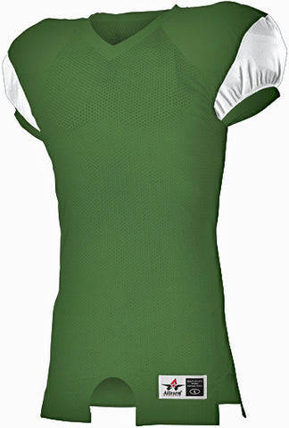 Alleson 792ZTNY Youth Stretch Football Jersey - Dark Green White