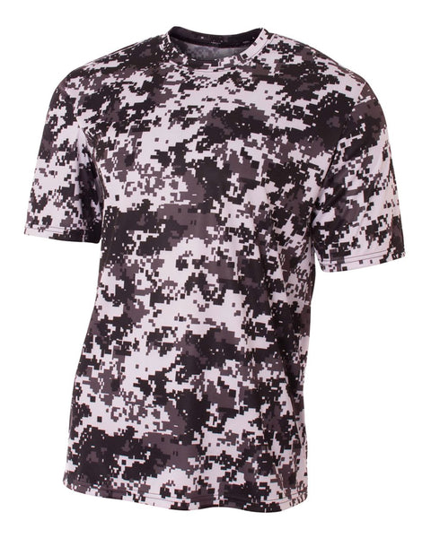 A4 N3256 Short Sleeve Camo Performance Tee - White Camo