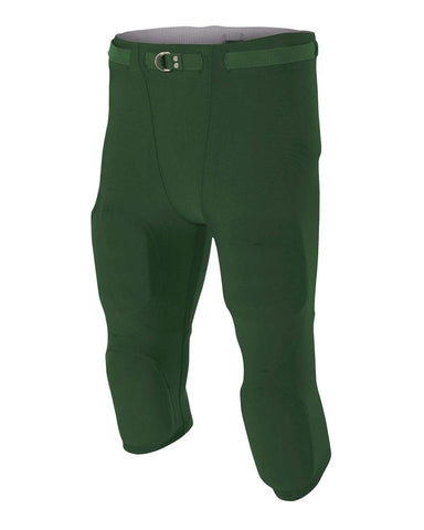 A4 N6181 Men's Flyless Football Pant - Forest