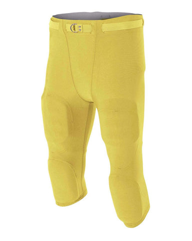 A4 N6181 Men's Flyless Football Pant - Gold