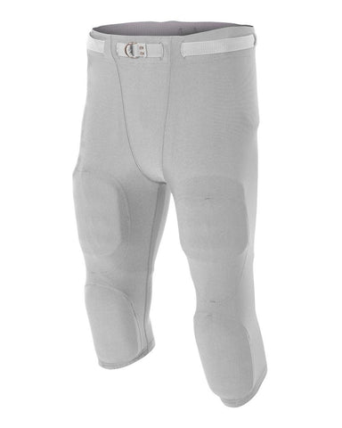 A4 N6181 Men's Flyless Football Pant - Silver
