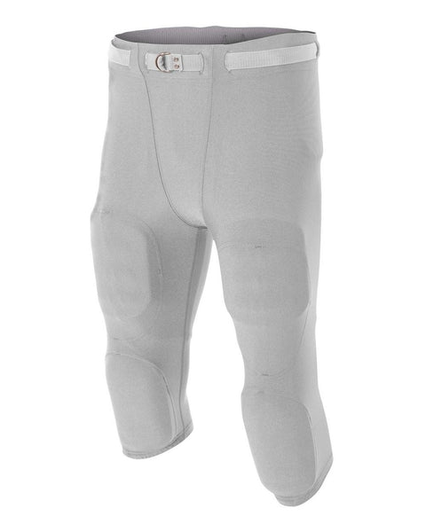 A4 NB6180 Youth Flyless Intergrated Football Pant - Silver