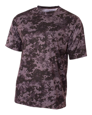 A4 NB3256 Youth Camo Performance Tee - Graphite Camo