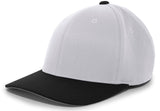 Pacific Headwear 801F Pro-Wool Flexfit Cap - Silver Black - HIT A Double