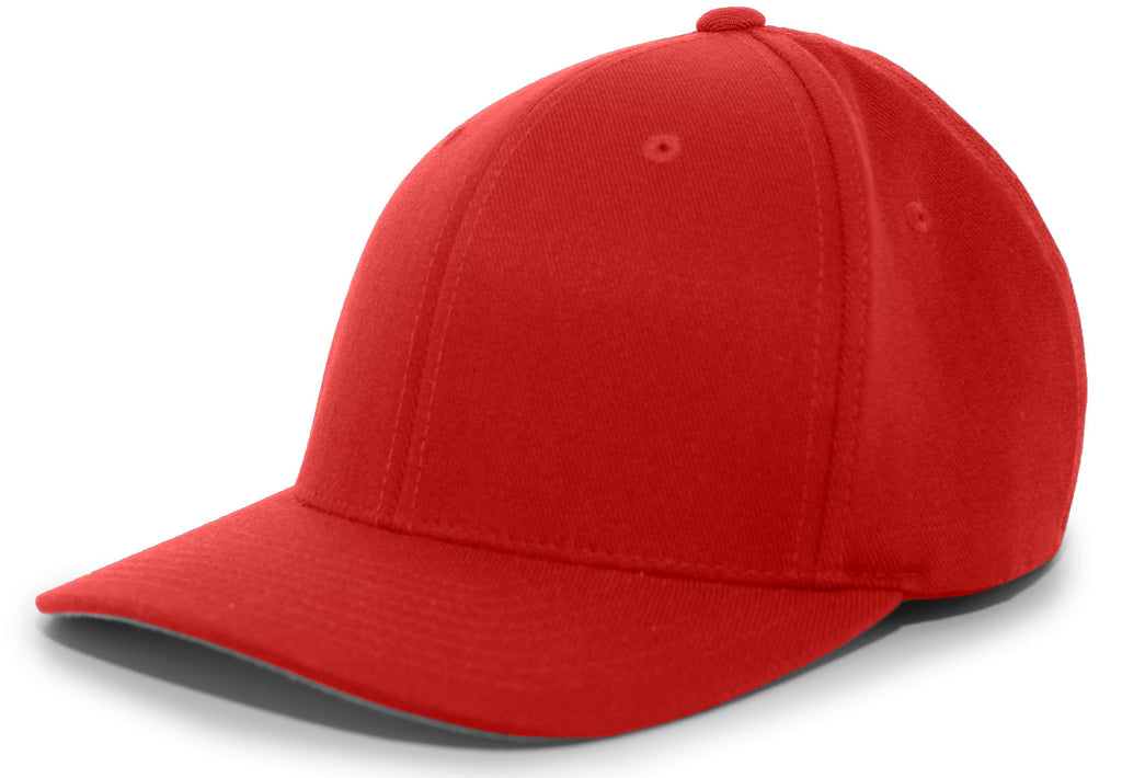 Pacific Headwear 801F Pro-Wool Flexfit Cap - Cardinal - HIT A Double