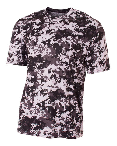 A4 NB3256 Youth Camo Performance Tee - White Camo