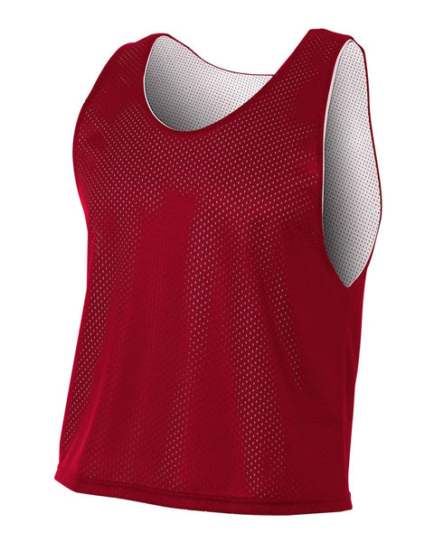 A4 NB2274 Youth Lacrosse Reversible Practice Jersey - Cardinal White