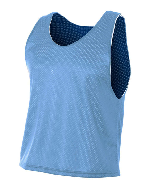 A4 NB2274 Youth Lacrosse Reversible Practice Jersey - Light Blue Navy