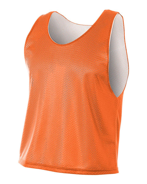 A4 NB2274 Youth Lacrosse Reversible Practice Jersey - Orange White