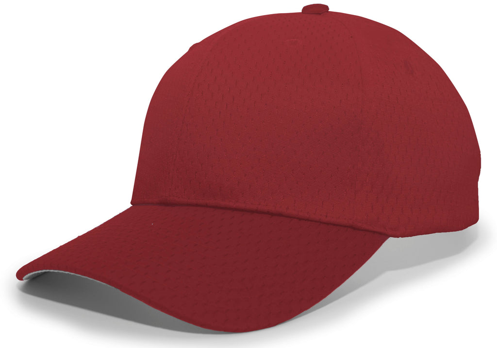 Pacific Headwear 805M Coolport Mesh Hook-and-Loop Cap - Maroon - HIT A Double
