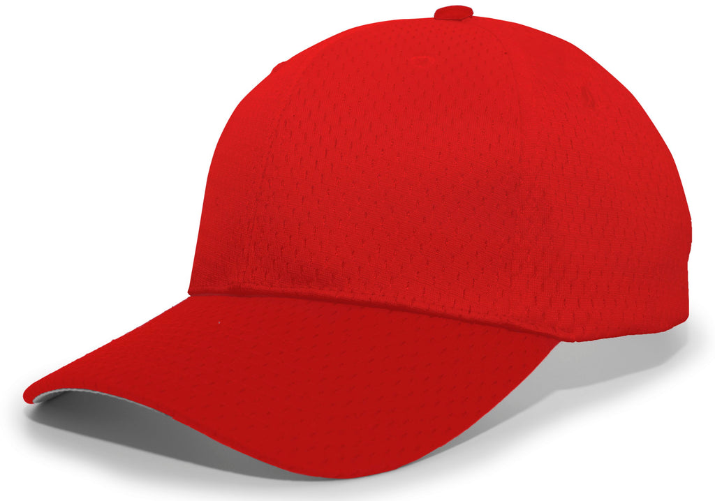 Pacific Headwear 805M Coolport Mesh Hook-and-Loop Cap - Cardinal - HIT A Double