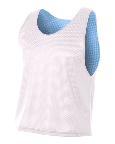 A4 NB2274 Youth Lacrosse Reversible Practice Jersey - White Light Blue