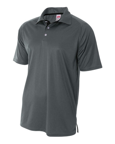 A4 N3293 Contrast Performance Polo - Graphite Black